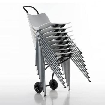 chariot de stockage pour chaises pliantes. Black Bedroom Furniture Sets. Home Design Ideas