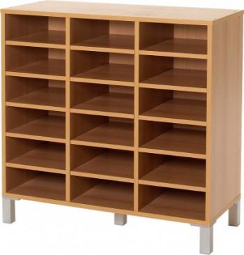 meuble tri courrier 24 cases avec portes. Black Bedroom Furniture Sets. Home Design Ideas