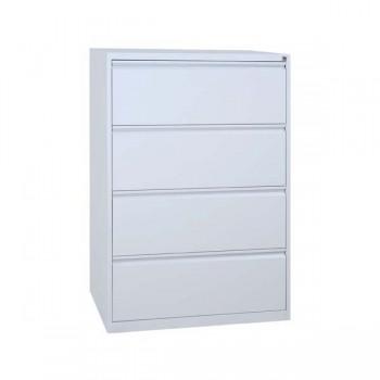 classeur double 2 tiroirs l87 cm meuble classeur pour dossiers suspendus mobilier. Black Bedroom Furniture Sets. Home Design Ideas