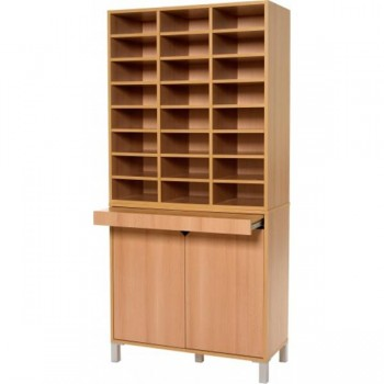 Meuble tri courrier 24 cases mobilier courrier for Meuble porte verrouillable