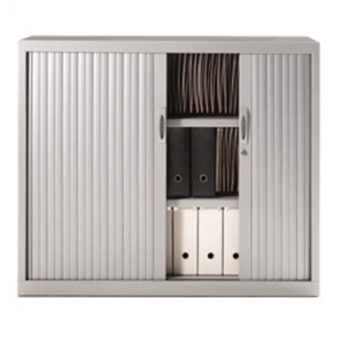 armoire rideau m tallique h145 cm armoire de rangement. Black Bedroom Furniture Sets. Home Design Ideas