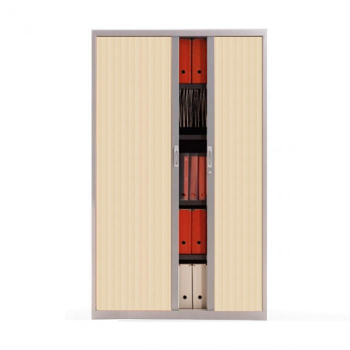 armoire rideau m tallique h198 cm armoire rideau de. Black Bedroom Furniture Sets. Home Design Ideas