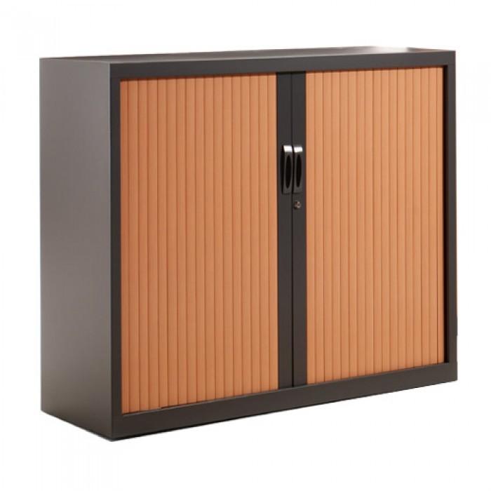 Armoire basse rideaux h105 cm armoire rideaux monobloc mobilier stock - Rideau meuble bas ...