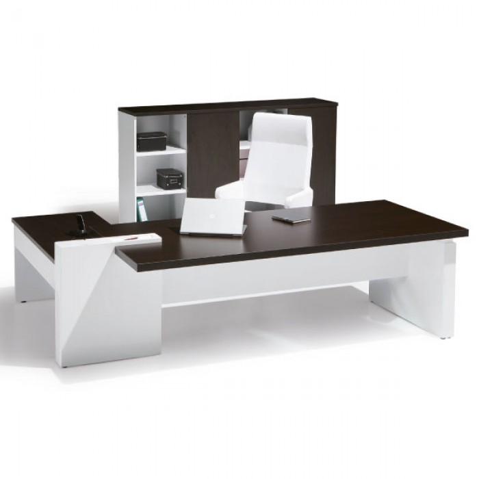 Bureau cross avec voile de fond bureaux de direction bureaux - Destockage mobilier de bureau ...