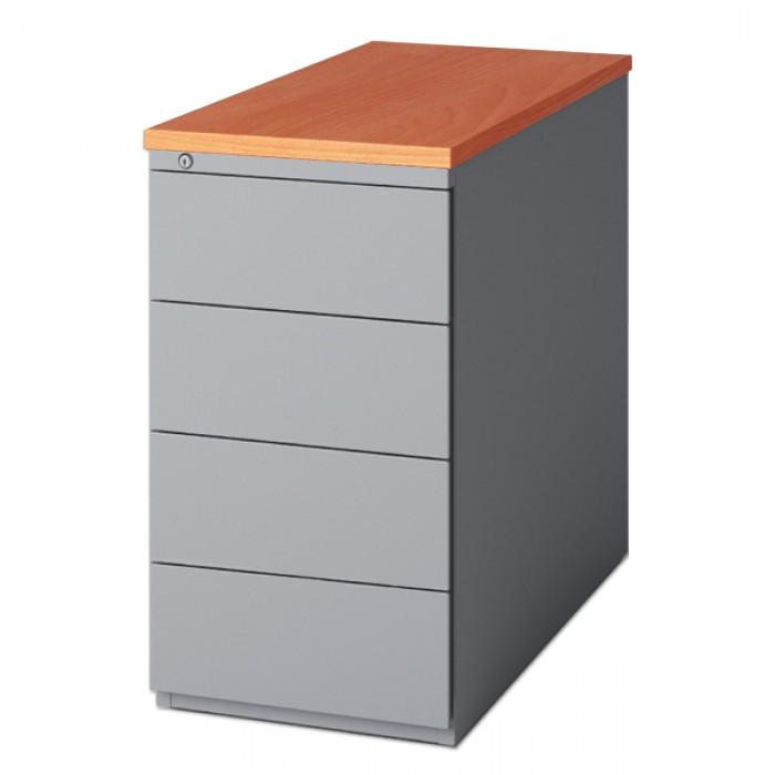 caisson hauteur de bureau 4 tiroirs caisson m tallique de bureau caissons de bureau rangement. Black Bedroom Furniture Sets. Home Design Ideas