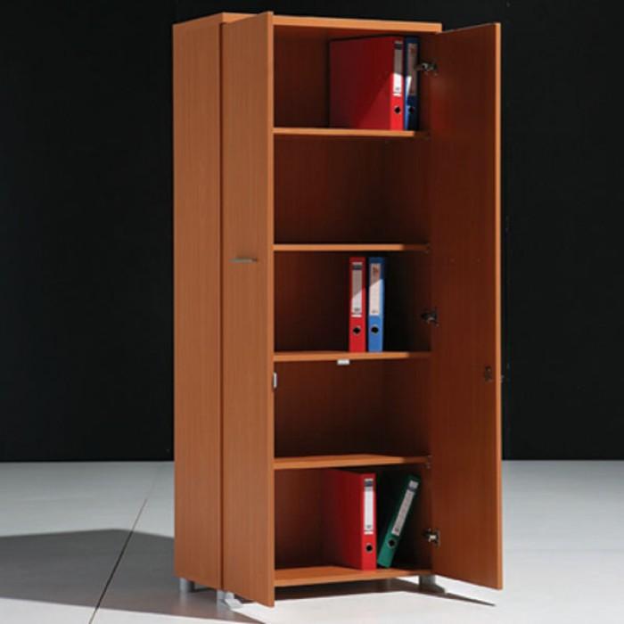 Meuble haut 2 portes en bois l80cm mobilier for Meuble haut une porte