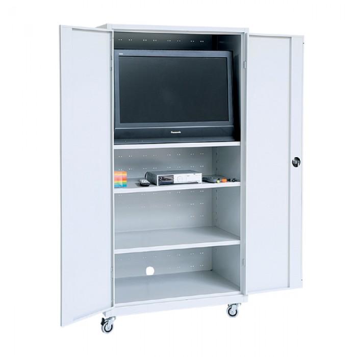 Meuble tv media portes battantes armoires m talliques - Meuble tv metallique ...