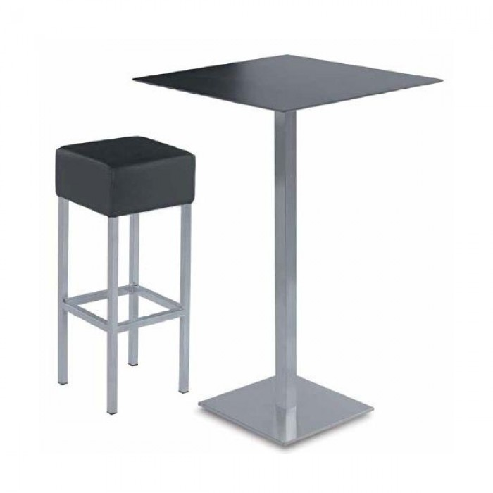 Table mange debout carr e linea mange debout carr for Table mange debout