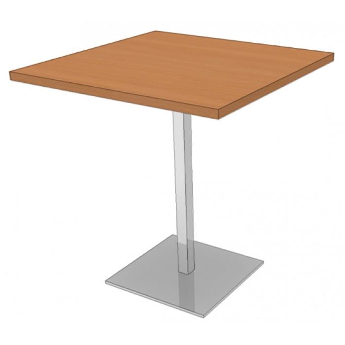 Table Carr E Avec Pied Central Table Mange Debout Carr E